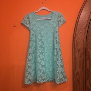 Kimchi blue dress, green, flower patterned
